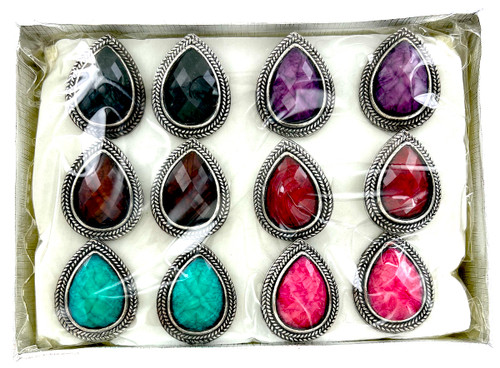 Wholesale Jewel Brights Rings by the Dozen - Drops