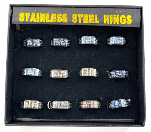 Wholesale Stainless Steel Rings by the Dozen - Salve Maria