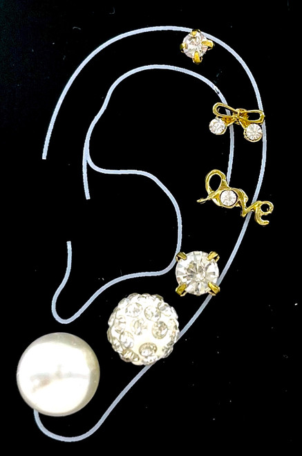 Wholesale Single Earring Collection by the Dozen - White Party