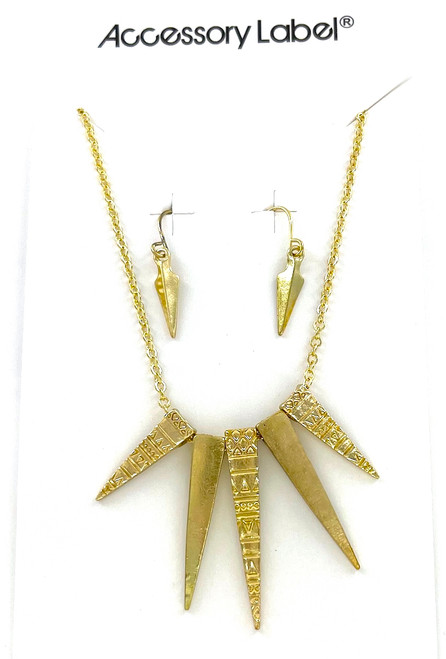 Wholesale Necklace and Earrings Sets by the Dozen - Golden Spike
