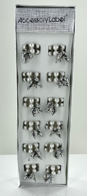 Wholesale Pearl Dolphin Rings by the Dozen