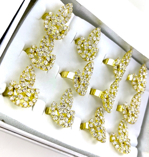 Wholesale Golden Flame Rings by the Dozen