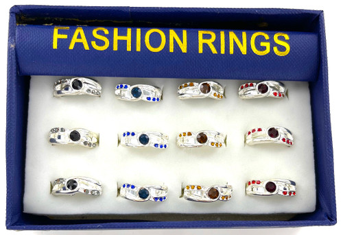 Wholesale Fashion Rings by the Dozen - Crystal Twist