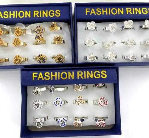 Wholesale Fashion Rings by the Dozen - Dozen Roses