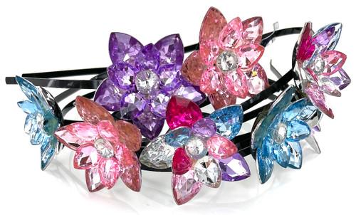 Wholesale Flower Headbands by the Dozen- 2 Colors