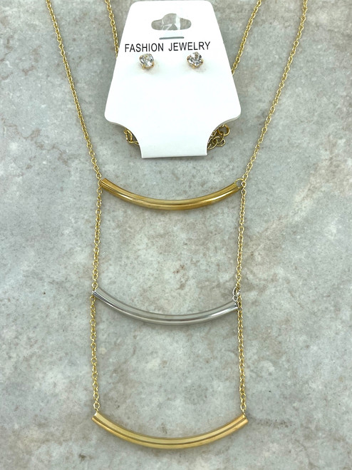 Wholesale Two-Tone Necklace and Earring Sets by the Dozen
