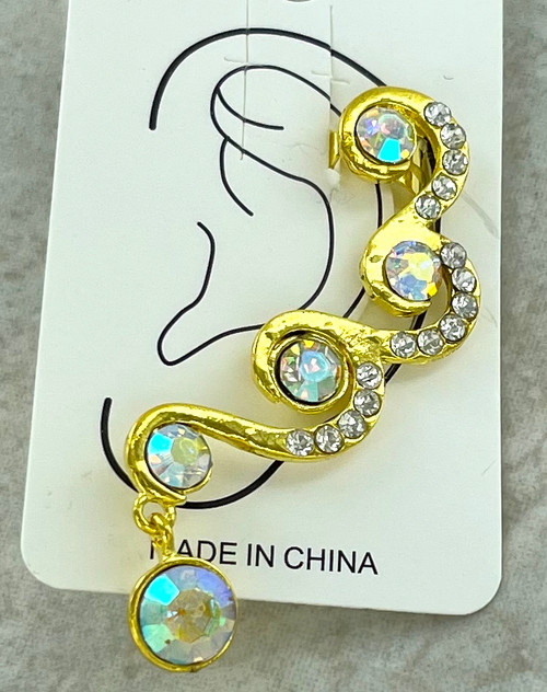 Wholesale Ear Cuffs by the Dozen - Crystal AB Swirls