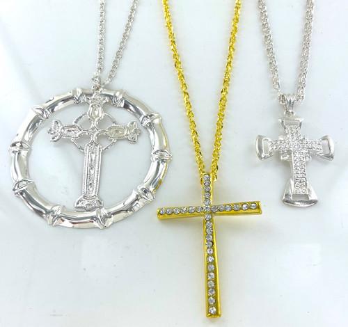 Wholesale Large Cross Necklaces by the Dozen