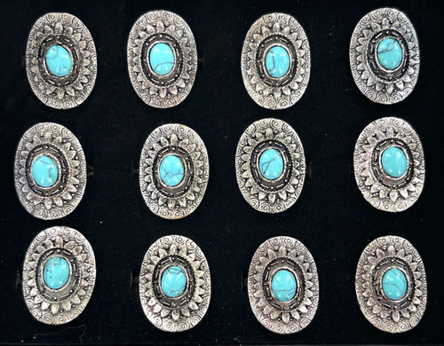 Wholesale Turquoise Medallion Rings by the Dozen
