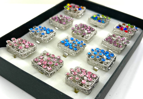 Wholesale Flower Basket Rings by the Dozen