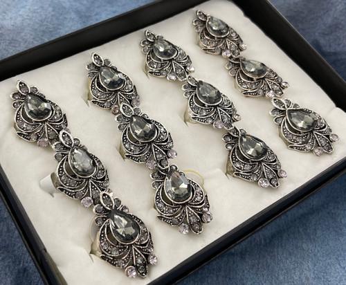 Wholesale Sized Rings by the Dozen - Marcasite Fan