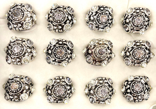 Wholesale Sized Rings by the Dozen - Crystallized Nugget