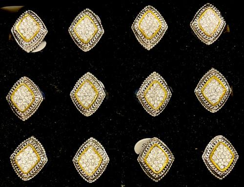 Wholesale Sized Rings by the Dozen - Crystallized Diamond