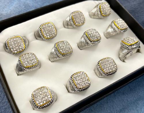 Wholesale Sized Rings by the Dozen - Crystallized Urman