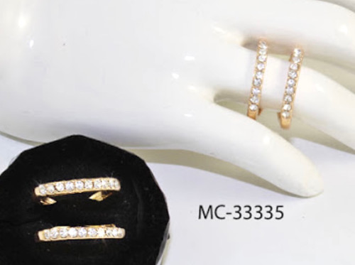 Wholesale Sized Rings by the Dozen - Golden Double Row