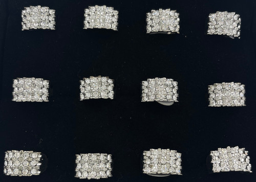 Wholesale Sized Rings by the Dozen - Crystal Pinky Rings