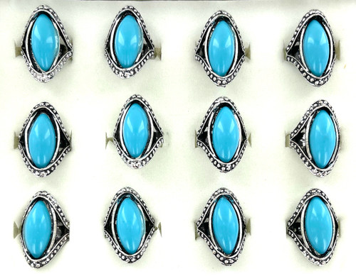 Wholesale Cool Blue Rings by the Dozen