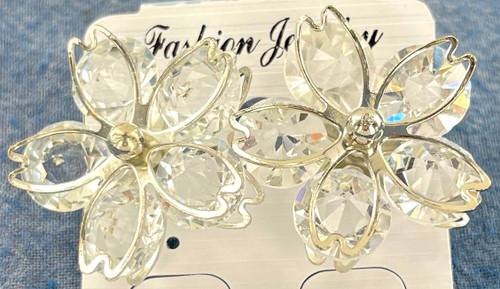 Wholesale Crystal Flower Earrings by the Dozen
