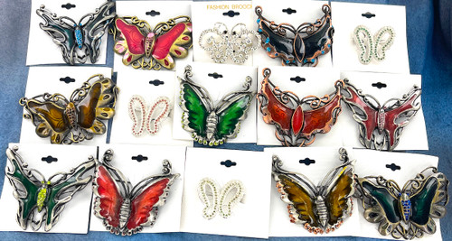 Wholesale Assorted Butterfly Pins by the Dozen
