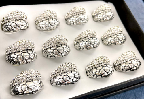 Wholesale Sized Rings by the Dozen - Double Trouble