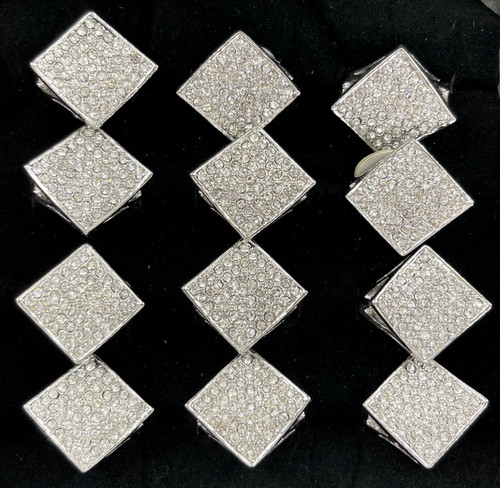 Wholesale Sized Rings by the Dozen - Crystal Pave Diamond