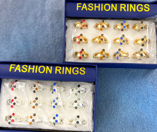 Wholesale Fashion Rings by the Dozen - Crystal Falls