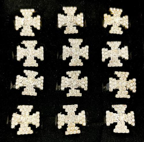 Wholesale Fashion Rings by the Dozen - Roman Cross