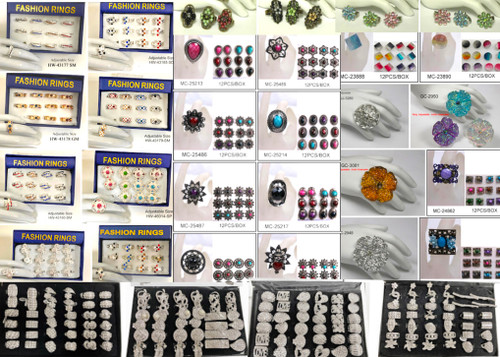 480 Pieces Wholesale Fashion Ring Closeout