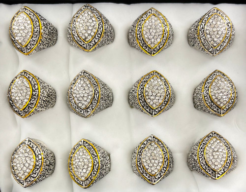 Wholesale Sized Rings by the Dozen - Crystal Champion