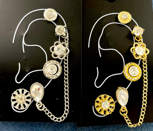 Wholesale Single Earring Collection by the Dozen - Chain Drops - 2 Colors