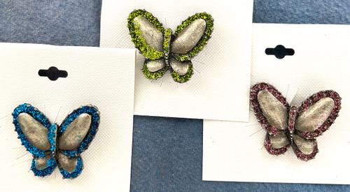 Wholesale Glitter Butterfly Pins by the Dozen