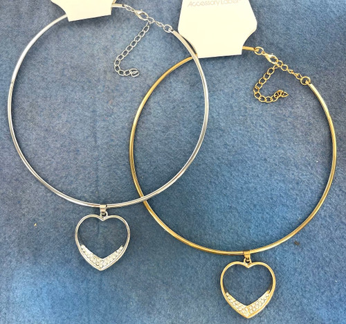 Wholesale Crystal Heart Chokers by the Dozen
