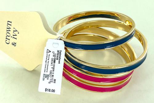 Wholesale Pink and Blue Bangle Bracelet