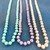 Wholesale Endless Glass Pearl Necklaces by the Dozen - Pastel - 36 Inches Long