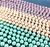Wholesale Endless Glass Pearl Necklaces by the Dozen - Pastel - 90 Inches Long