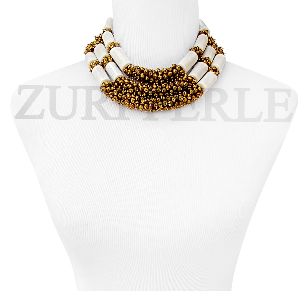Ayo Handmade White Coral African Beads Nigerian Wedding African Jewelry Sets Bold Statement Necklace Made In America