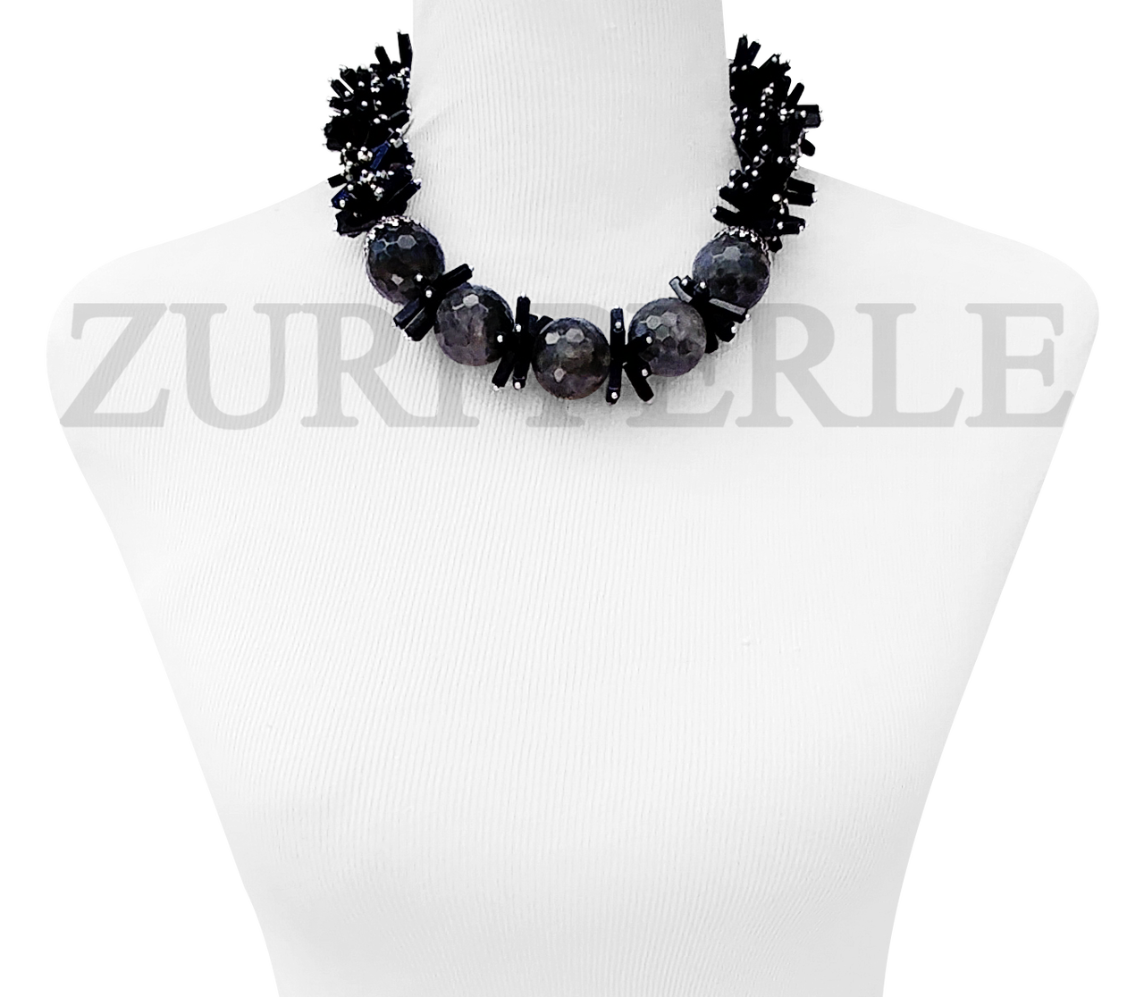 Handmade Quality Labradorite Blue Goldstone Onyx Crystal Quality African Beads Nigerian Wedding African Jewelry Sets Bold Statement Necklace Made In America