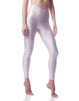 Mermaid Sneaker Leggings - Pink Sparkle