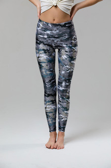 High Rise Leggings - Marble Camo