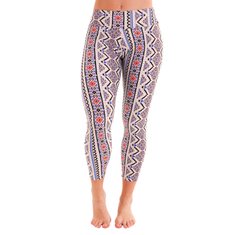 7/8 Patterned Leggings - GeoPower by Tiffany Cruikshank
