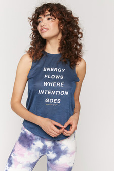 Energy Active Muscle Tank - Caribbean Navy