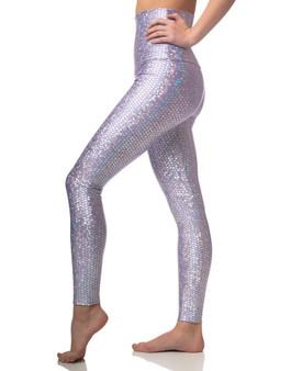 Mermaid Sneaker Leggings - Lavender Sparkle