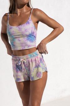 Divine Shorts - Neon Tie Dye