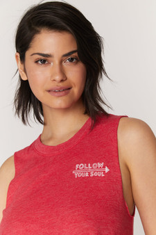 Follow Your Soul Crop Tank - Strawberry