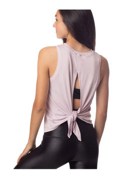 Lucy Tie Back Tank - Lilac