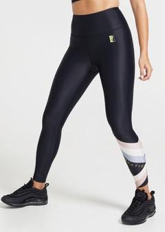 Side Step Leggings - 7/8 Black