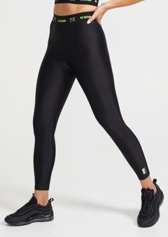 Line Point Leggings - 7/8 Black
