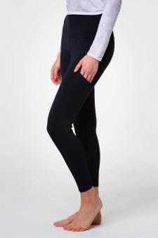 High Rise Pocket Leggings - Black