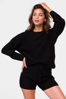 Cozy Knit Sweater - Black