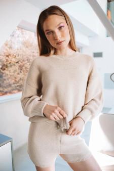 Cozy Knit Sweater - Cuban Sand